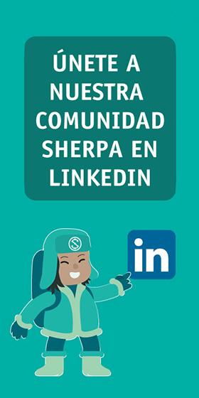 Únete a nuestra comunidad Sherpa en LinkedIn